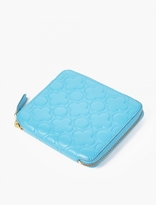 Comme Des Garcons Wallet Blue Embossed Leather Wallet