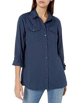 Goodthreads Lightweight Twill Long-sleeve Utility Shirt Button,L