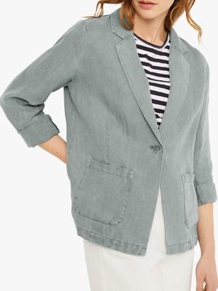 White Stuff Gowan Linen Blazer, Slate Grey