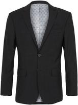 Oxford Auden Wool Suit Jckt Charcoal X