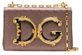 Dolce & Gabbana logo plaque metallic thread cross body bag