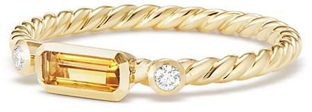 David Yurman Novella Ring in Citrine with Diamonds