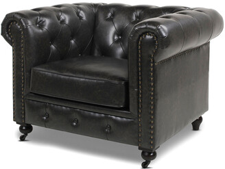 Jennifer Taylor Winston Leather Chesterfield Armchair