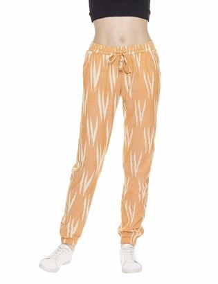 Indigo Paisley Women's Allegra Boho Style Jogger Pants Small Aspen Gold