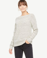 Ann Taylor Off The Shoulder Cable Sweater