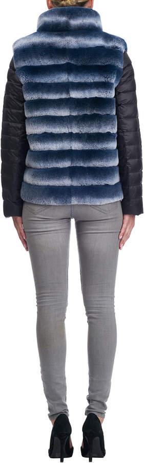 Gorski Stand-Collar Rabbit Fur Jacket