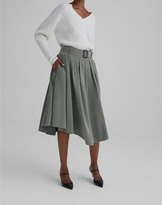 Club Monaco Belted Midi Skirt