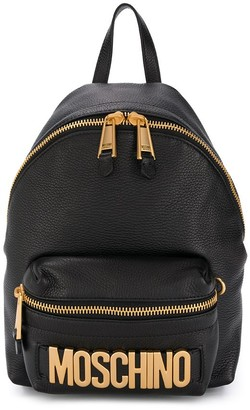 Moschino Lettering Logo Backpack