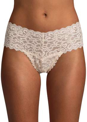 Core Life Embroidered Lace High-Waist Thong