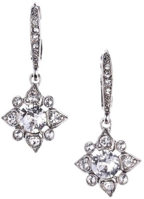 Oscar de la Renta Delicate Star Crystal Drop Earrings