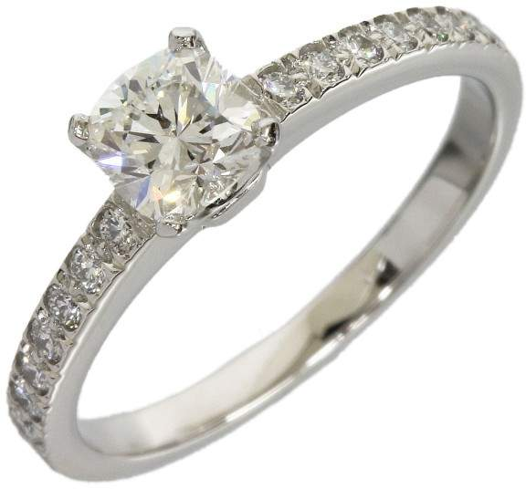 Tiffany & Co. 950 Platinum 0.50ct. Diamond Novo Ring Size 5.5
