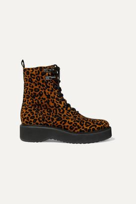Diane von Furstenberg In Charge Leopard-print Suede Ankle Boots - Leopard print