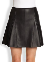 3.1 Phillip Lim Leather Kick Pleat Skirt