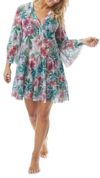 CoCo Reef Floral-Print Cover-Up Dress Women's Swimsuit