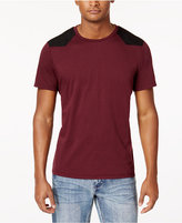 INC International Concepts Men's Faux-Suede Pieced T-Shirt, Created for Macy's