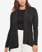 Lauren Ralph Lauren Plus Size Open-Front Jersey Cardigan