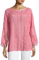 Johnny Was Mesha Eyelet Georgette Tunic, Plus Size