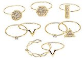 Charlotte Russe Dainty Stackable Rings - 9 Pack