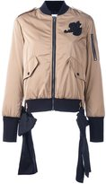 MSGM zip-up bomber jacket - women - Polyester/Viscose - 40
