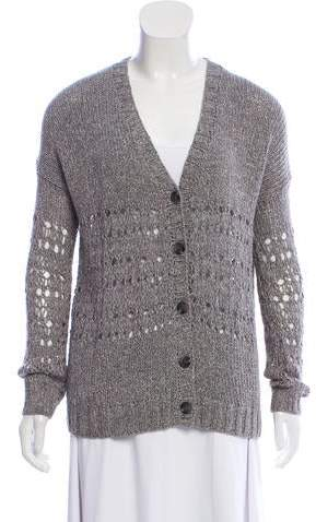 c591baa206e Rib Knit Button-Up Cardigan