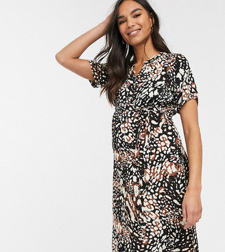 Mama Licious Mamalicious animal print dress