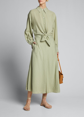 Vince Tie-Front Shirtdress