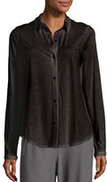 Eileen Fisher Classic Collared Cotton Shirt, Petite