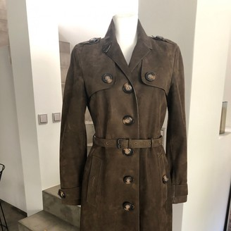 Burberry Brown Suede Coat for Women