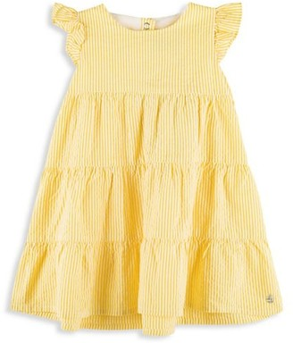 Petit Bateau Baby Girl's Seersucker Tiered Dress