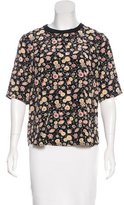 Elizabeth and James Silk Floral Pattern Top