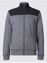 M&S Collection Pure Cotton Zipped Through Sweatshirt