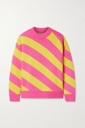 Meryll Rogge Oversized Striped Wool Sweater - Pink