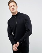 Jack and Jones Sweater With High Neck And Zip Opening