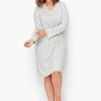 Talbots Jersey Sleep Shirt - Confetti Dot