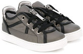 DSQUARED2 zipped sneakers - kids - Leather/Nylon/rubber - 24