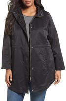 Eileen Fisher Plus Size Women's Organic Cotton & Nylon Hooded Jacket