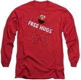 Sesame Street Classic TV Show Elmo free Hugs Adult Long Sleeve T-Shirt
