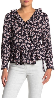 Everleigh Ruffle Print Wrap Blouse (Regular & Petite)