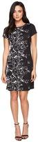 Ellen Tracy Floral Knit Sheath Dress