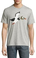 Mostly Heard Rarely Seen 8-Bit Duck Graphic T-Shirt, Melange Heather Gray
