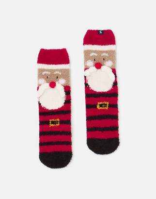 Joules Festive Fluffy Character Sock