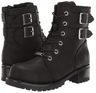 Harley-Davidson Archer Steel Toe (Black) Women's Work Boots