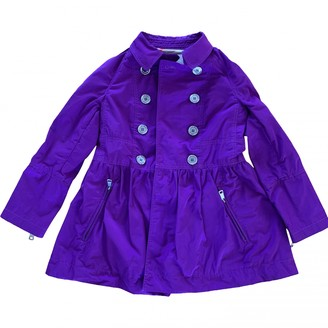 Burberry Purple Polyester Jackets & Coats