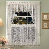 Lorraine Home Fashions Hopewell Lace Window Swags, 58-Inch by 38-Inch, Cream, Set of 2 by