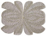 Nomi K Peacock Hand-Beaded Placemat, Silver