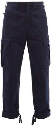 Acne Studios Pat Twill Cargo Trousers - Mens - Navy