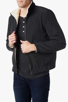 7 For All Mankind Nylon Sherpa Jacket In Black