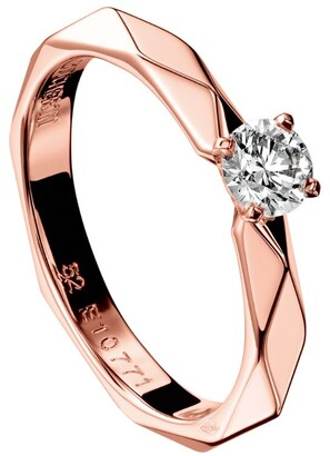 Boucheron Rose Gold and Solitaire Diamond Facette Engagement Ring
