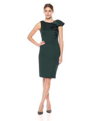 Eliza J Women's Asymmetric Ruffle Formal Dress