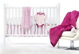 Swaddle Designs 6 Piece Lightweight Crib Bedding Set with Crib Skirt with Luxury Adult Blanket